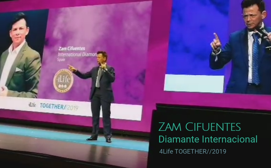 Zam Cifuentes - Diamante Internacional - 4Life Together 2019